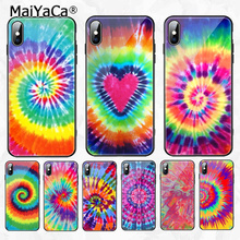 MaiYaCa Tie Dye Pattern Batik Rainbow1 New Arrived High Quality Luxury phone case for Apple iPhone 8 7 6 6S Plus X XS MAX XR