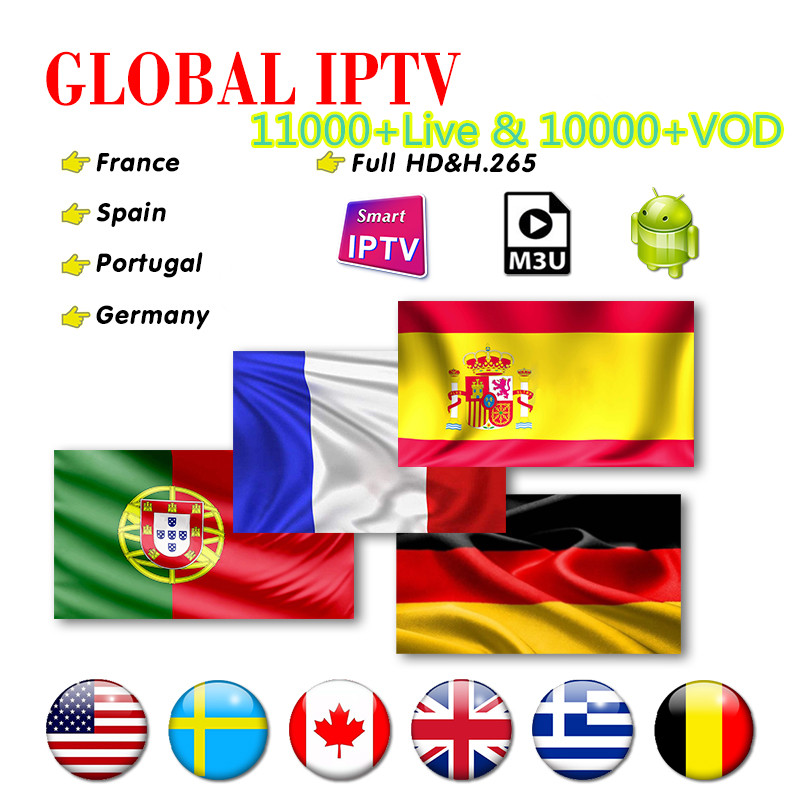 Subscription Iptv Spain DAZN 12 Months Code Europe Portugal Albania Greek IPTV Sweden Germany Belgium Dutch French Romania IP TV