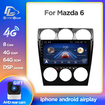 Prelingcar Android 10.0 For MAZDA 6 2006 2007 2008-2013 Car Radio Multimedia Video Player GPS Navigation NO DVD 2 Din Octa-Core image