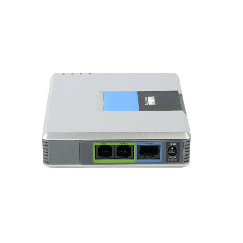 1Set VOIP Gateway 2 Ports SIP V2 protocole Internet téléphone adaptateur vocal avec câble réseau pour Linksys PAP2T AU/EU/US/UK Plug