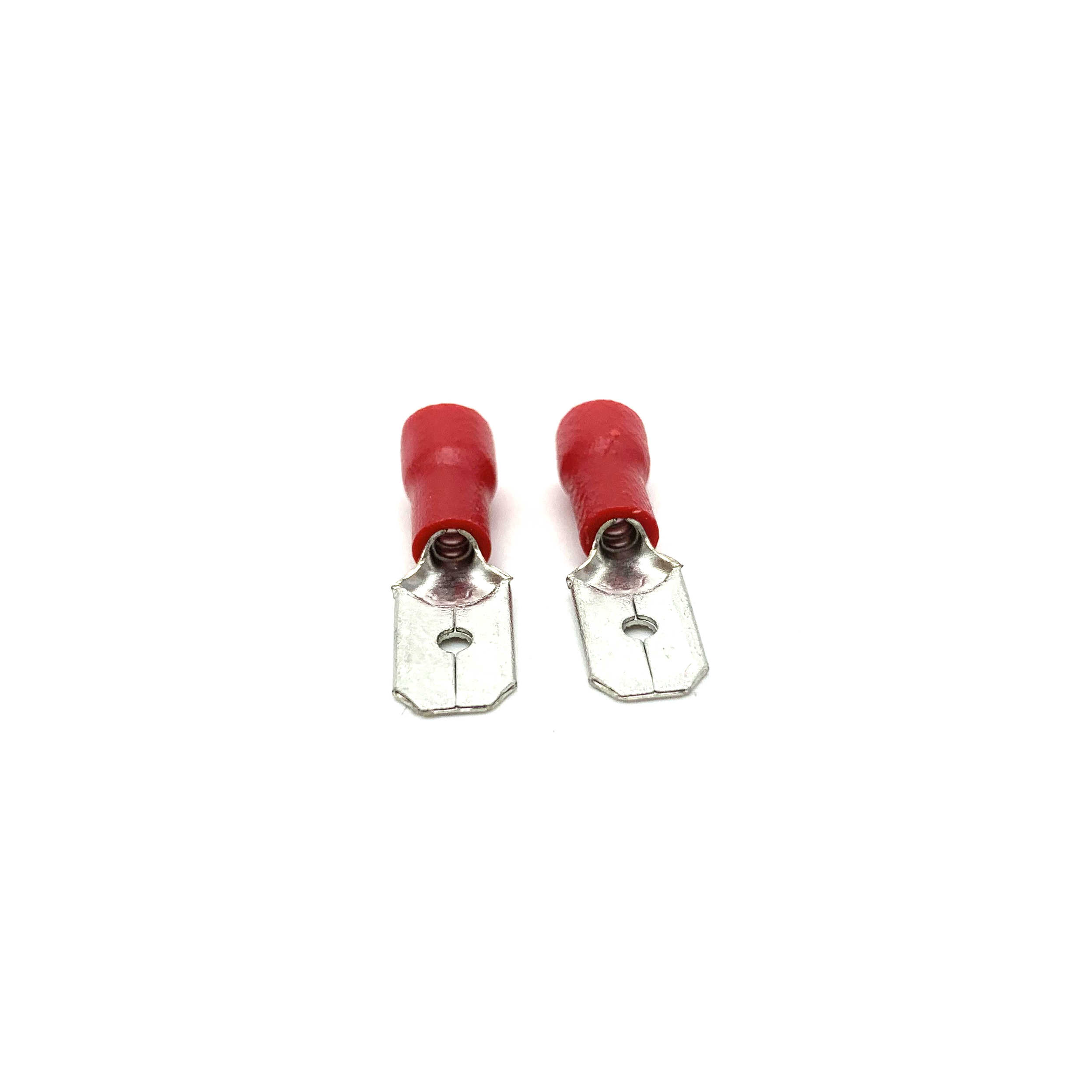 1/2 Set FDD 1.25-250 MDD1.25-250 6.3 Mm Merah Wanita + Male Spade Insulated Listrik Crimp Terminal konektor Kabel Plug