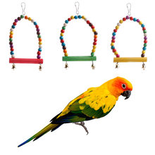Colorful Swing Bird Rope Parrot Harness Hammock Hanging Toys Cockatiel Parakeet Y1QB(China)