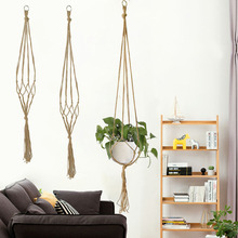 Hanger-Tray Flower-Pot Wall-Decor Plant Hanging-Basket Knotted Handmade Wedding Home Garden