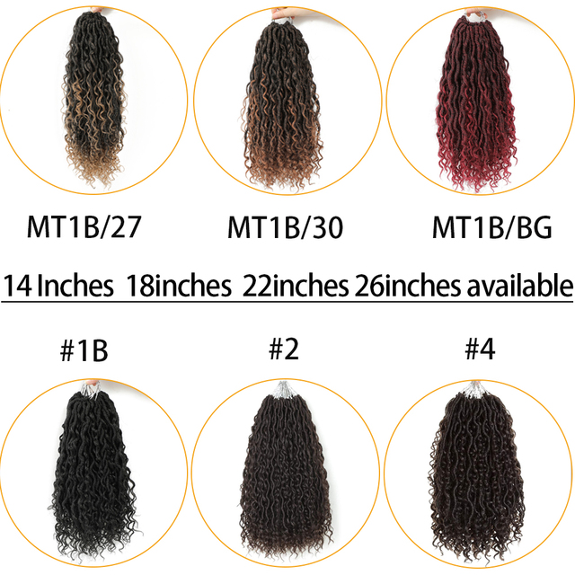 Synthetic Crochet Braids Hair Passion Twist River Goddess Braiding Hair Extension Ombre Brown Faux Locs With Curly Hair X-TRESS 4
