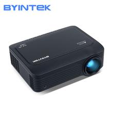 BYINTEK K18 Mini LED 1920 #215 1080 Full HD 1080P przenośny projektor gier LCD (opcjonalnie Android 10 TV pudełko na smartfon) tanie tanio Korekcja ręczna CN (pochodzenie) 16 09 Brak 300 ANSI lumens System multimedialny 1920x1080 dpi 50-150 inch 1000 01 00 Odbicie lustrzane