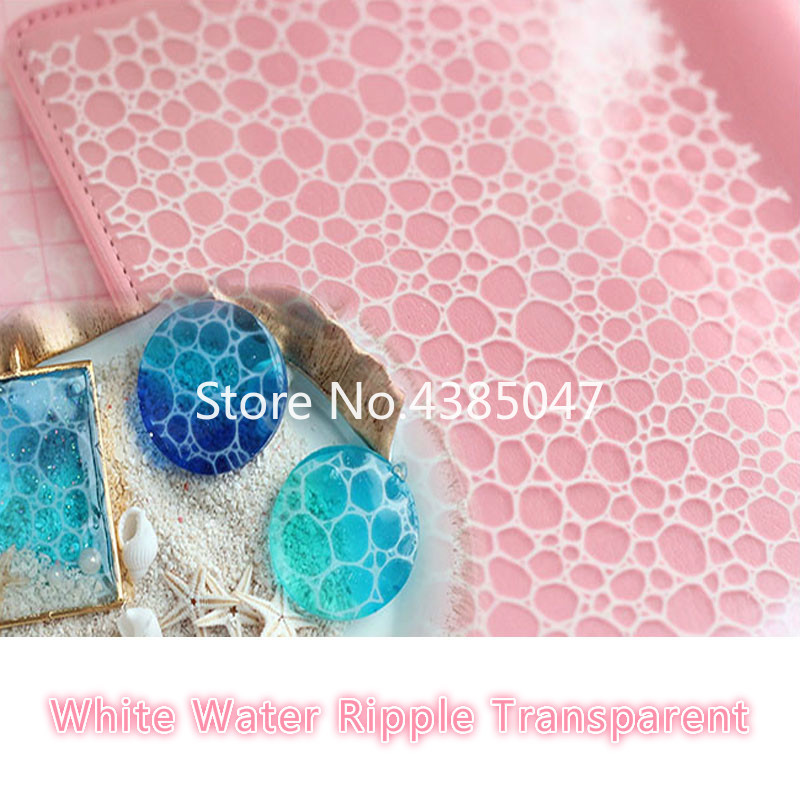 1PCS Expoxy Resin Mold Jewelry Tools Filling Material White Water Ripple Transparent For Making Jewelry