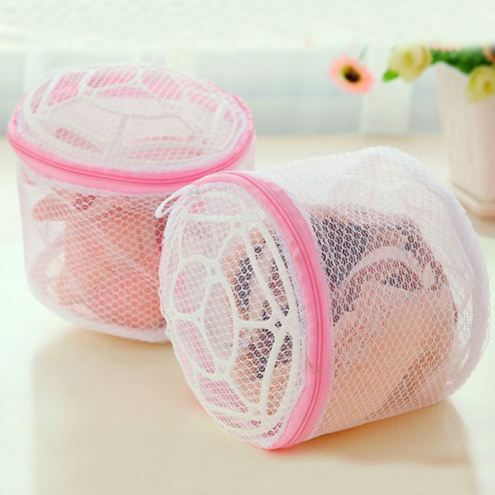 Clothes Laundry Cleaning Mesh Bags Bra Washer Stocking Protection Cover Zip Pocket Underwear Pouch Basket Washing Machine Storag