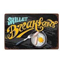 Оловянная вывеска для завтрака always fresh металлический винтажный
