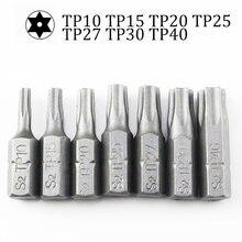 10 шт/лот 25 мм звездообразные биты для отверток с отверстием