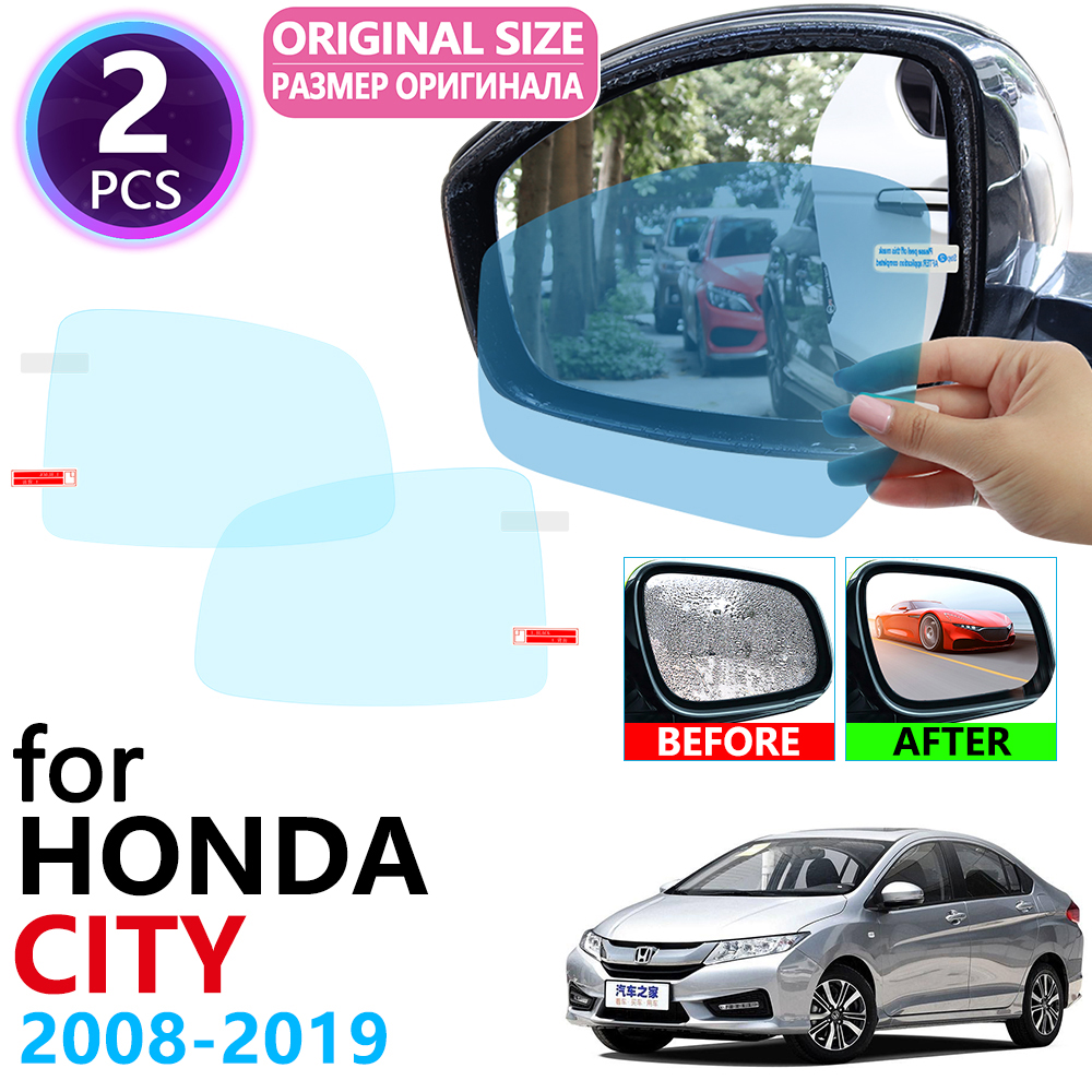 For Honda City GD8 GD9 GM2 GM3 GM6 2008~2019 Rearview Mirror Anti Fog Film Accessories 2009 2010 2011 2012 2013 2014 2015 2018