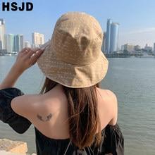 New Black Letter Sun Hat Hip Hop Bucket Hats Unisex Bob Caps Gorros Men Women Summer Wide Brim Foldable Panama Fisherman Hat