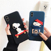 3D Cute Cartoon Dog For iPhone 11 Pro Max Phone Case X XS XR Soft Silicone 8 7 6 6s Plus Cover