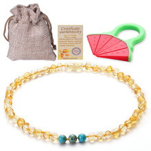 Baltic Amber Teething Necklaces Beads Necklace Gift Natural for Baby Bracelet
