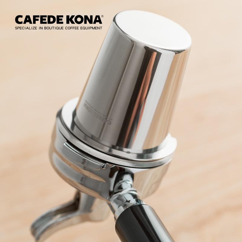 CAFEDE KONA Stainless Steel Mini Coffee Sniffing Mug Powder Feeder Espresso Machine Portafilter Grinder Coffeemaker Assistant