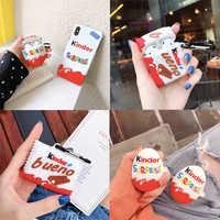 3D kinder Schokolade Spielzeug ei ÜBERRASCHUNG Keks Kopfhörer silikon fall für Apple AirPods Bluetooth Zubehör nette abdeckung capa