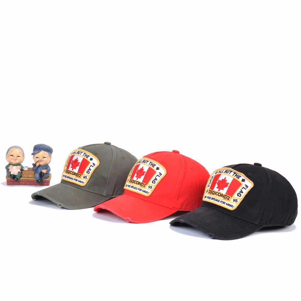 DSQICOND2 Baumwolle Maple Leaf Baseball Caps DSQ2 Buchstaben Hohe Qualität Kappe Männer Frauen Kunden Design Hut Trucker Hysterese Dad Hüte