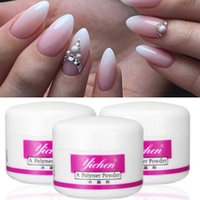 White Pink Clear 3D Nail Glitter Sculpture Powder Art Design Color Builder Acrylic paznokcie