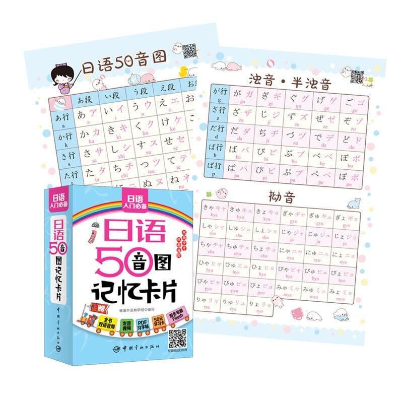 Japanese 50 Syllabary Memory Card Practical Vocabulary Common Sentence Entry Pronunciation Word Libr