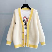 Маленький свитер с вышивкой кардиган Женская Осенняя куртка