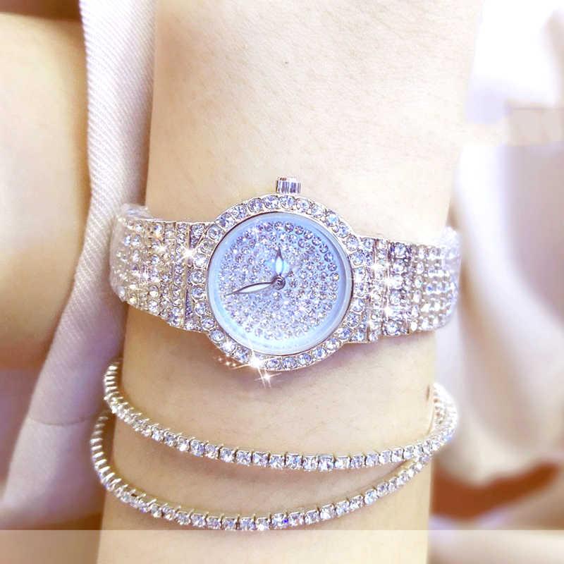 BS นาฬิกาผู้หญิงที่มีชื่อเสียงแบรนด์นาฬิกาข้อมือสุภาพสตรีเพชรนาฬิกาขนาดเล็กนาฬิกาข้อมือ Rose Gold นาฬิกาผู้หญิง Montre Femme 2020