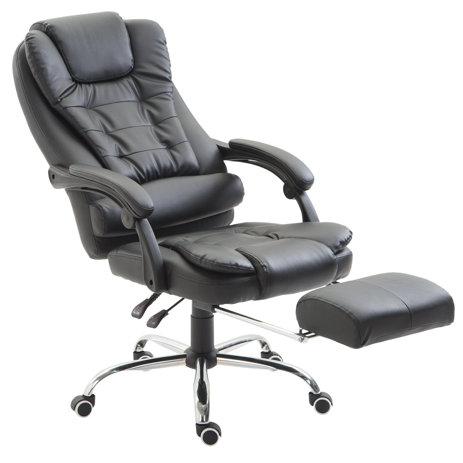 HOMCOM Removable Office Chair Adjustable Swivel Chair With Footrest
