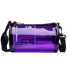New Korean 2019 plastic transparent jelly bag versatile single-shoulder crossbody wamen's handbag tubular 3 color fashion bags цены онлайн