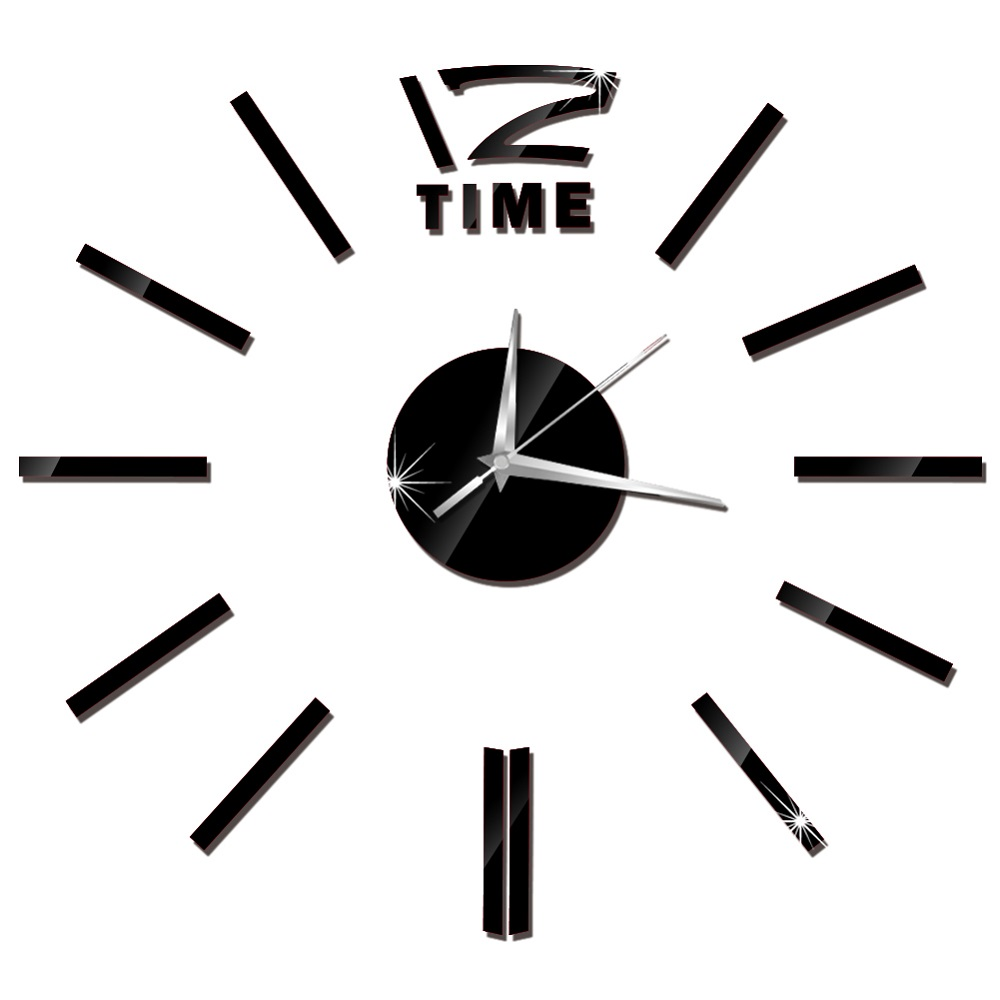 3D Wall Clock Acrylic Mirror Wall Stickers Modern DIY Wall Clocks Home Decor Living Room Quartz Needle reloj de pared 2020 NEW 37