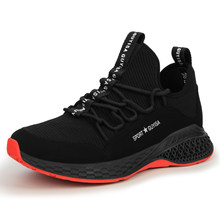 Men's Short Ankle Anti Slip Steel Toe Cap Protective Work & Safety Shoes Men Puncture Proof Construction Shoes