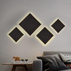 Image 3 - מודרני מקורה אופנה LED מנורת קיר סלון קישוט קיר אור בית תאורה מתקן לופט מדרגות אור אלומיניום AC90 260V