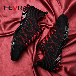 Image 4 - FEVRAL Brand 2020 Summer Breathable Men Sneakers Adult Red Blue Green High Quality Comfortable Non slip Soft Men Shoes