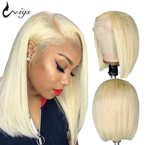 UWIGS 613 Straight Bob Wig 613 Blonde Lace Front Wig Ombre Human Hair Wig Brazilian Remy Lace Front wig Transparent Lace Wig