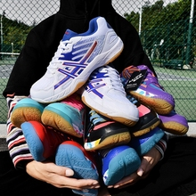 Professional Volleyball Shoes Men Women Breathable Badminton Sneakers Anti-Slip Training Sneaker Indoors Stability Tennis Shoes