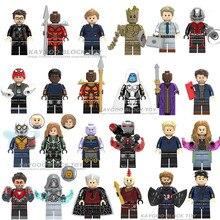 Бесконечность войны Супер Герои муравьиный человек ОСА Legoinlys Мстители Черная пантера Железный человек танос Тор Сокол Халк строительный блок игрушка