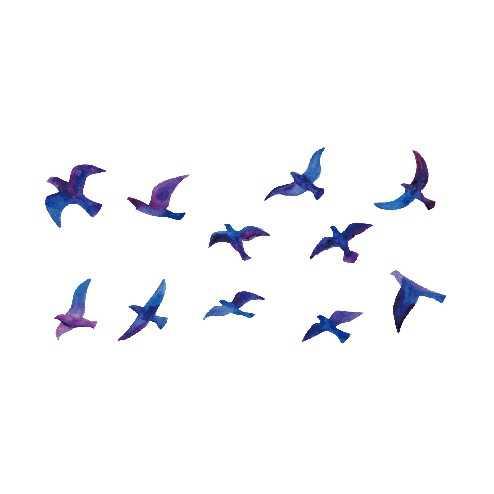 กันน้ำชั่วคราวTattooสติกเกอร์Swallow Fly Bird Flash Tattoo Fake Tattooแขนขาเท้ามือสำหรับสาวผู้ชายผู้หญิงเด็ก