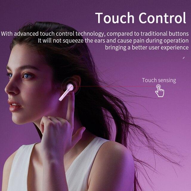 Essager J18 Pro Wireless Headphones With Microphone Stereo TWS Bluetooth 5.0 Earphones Ear buds Handfree Sport Headset EarBuds 2