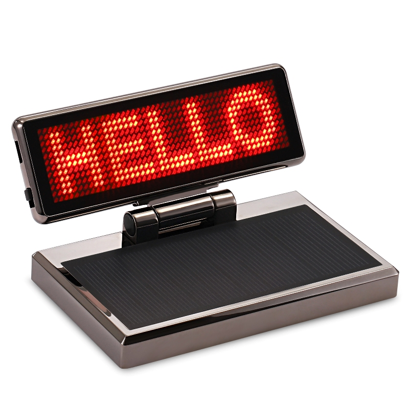 Solar Rechargeable Car LED Display Advertising High Brightness Advanced Level Quality Scrolling Message Vehicle LED Sign