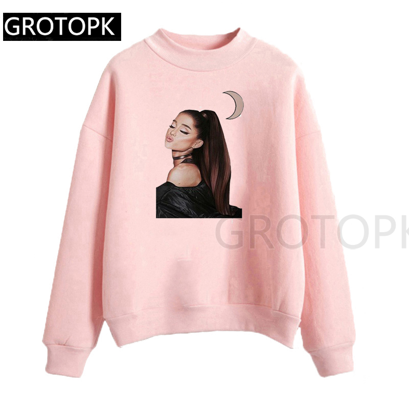 Autumn Ariana Grande Popular Gothic Hooded For Women Harajuku Funny Korean Style Tops Camiseta Mujer