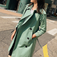 2020 Spring New Women's Windbreaker Mid-length Korean Casual Loose Tie Thin Spring Autumn T