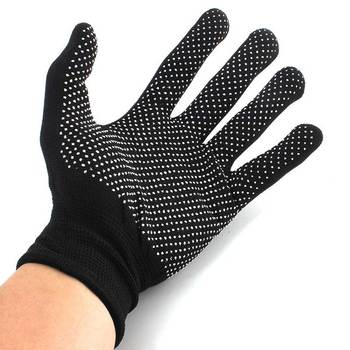 1 Pair Heat Resistant Protective Glove Hair Styling For Curling Straight Flat Iron Work gloves Safety gloves High Quality anti-c image