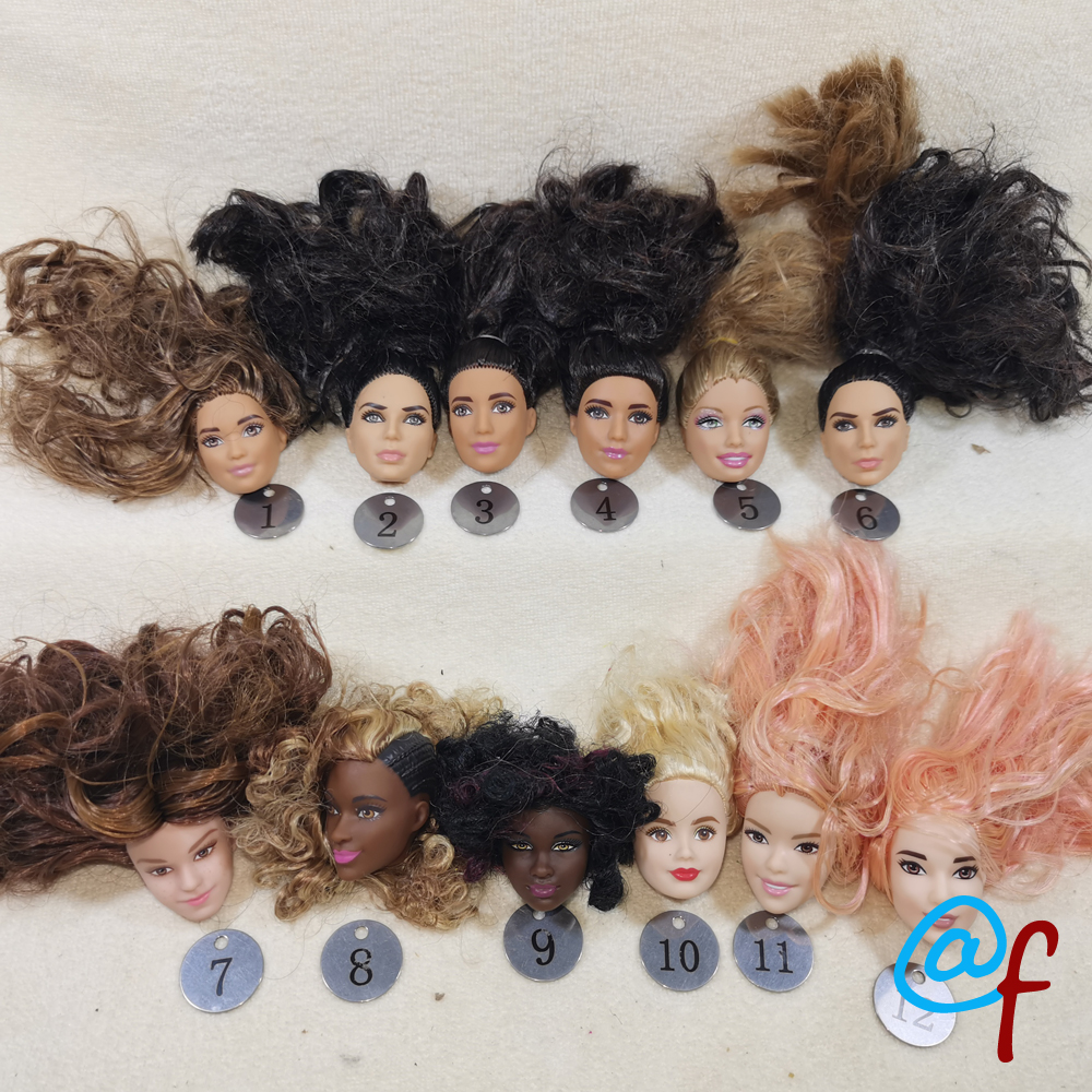 B14-2 Original Foreign Trade World Beauty 1/6 OOAK NUDE Doll Head Mussed Lost Hair For DIY CarefulXXXXpurchase