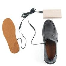 Шерсть Зимний нагреватель стельки отопление стельки с подогревом снег Лыжная обувь носок коричневый индивидуальный дропшиппинг одежда с подогревом стельки