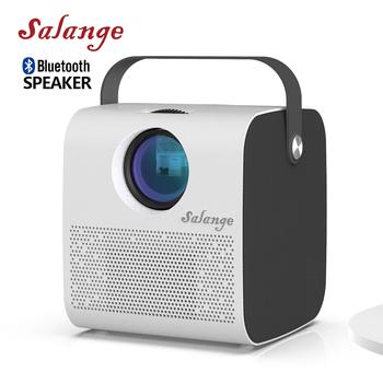 Salange P52 Bluetooth Projektor 1280*720 przenośny zestaw kina domowego USB 3600 lumenów wideo Beamer 1080P obsługiwany głośnik Bluetooth tanie i dobre opinie Brak CN (pochodzenie) Projektor cyfrowy 4 3 16 9 Focus 360 Ansi System multimedialny 1280x720 dpi 40-200 cali Led light