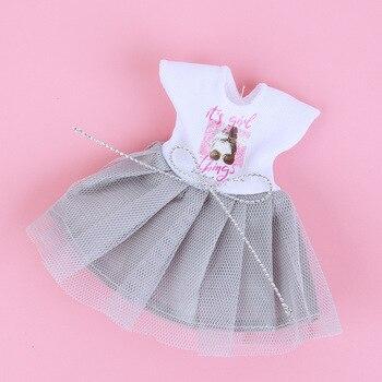 1/8 BJD Dolls Clothes Set 16-18 CM BJD Dolls Lace Flower Dress Sweater 6 Inch BJD Dolls Tops With Skirt For Girls Dolls Clothes