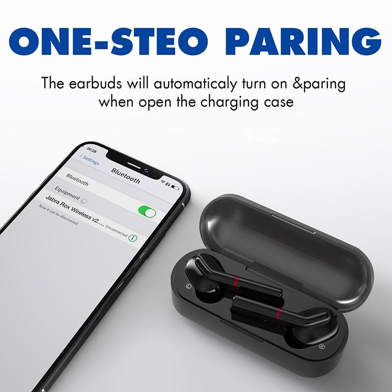Image 2 - TWS Wireless Bluetooth 5.0 Earphone Sport Sweatproof Headphone Stereo Portable Earbuds HIFI Top Sound Quality PK T3 I12 I10 I200Phone Earphones & Headphones   -