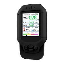купить Pm2.5/Hcho/Tvoc Gas Tester Aqi Detector Air Quality Monitor Home Smog Meter  DORP дешево