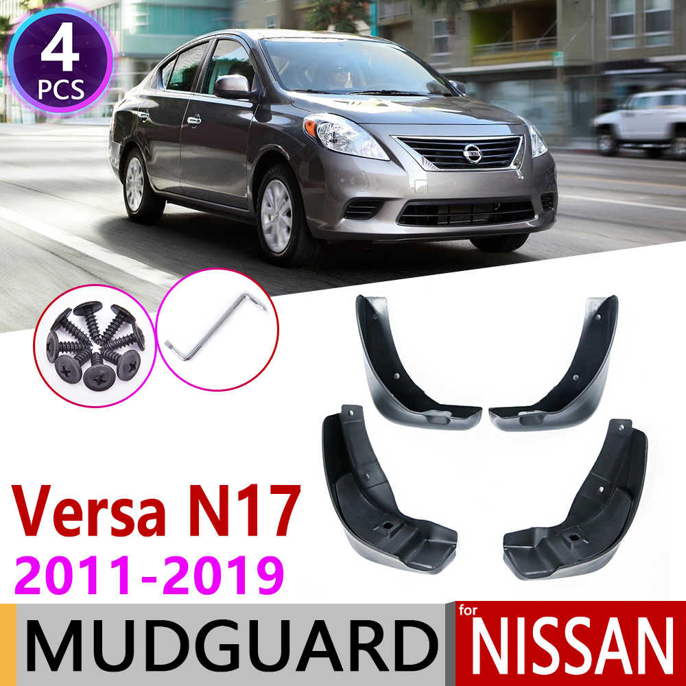 Para Nissan Versa Sedan Latio soleado Almera N17 2011 ~ 2019 guardabarros accesorios guardabarros 2012 2013 2014 2015 2016, 2017, 2018,