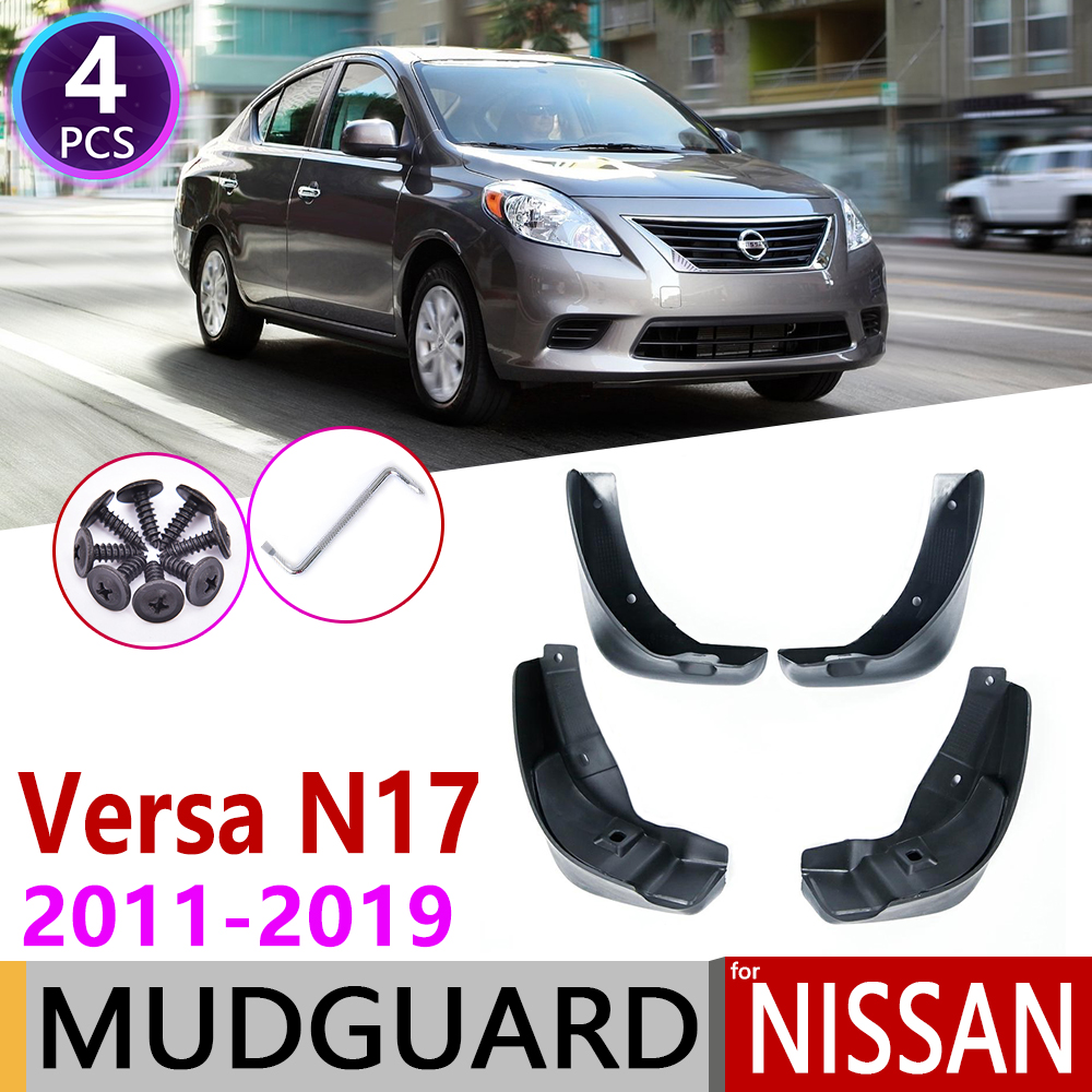 for Nissan Versa Sedan Latio Sunny Almera N17 2011 2019 Fender Mud Flaps Mudguard Accessories 2012 2013 2014 2015 2016 2017 2018
