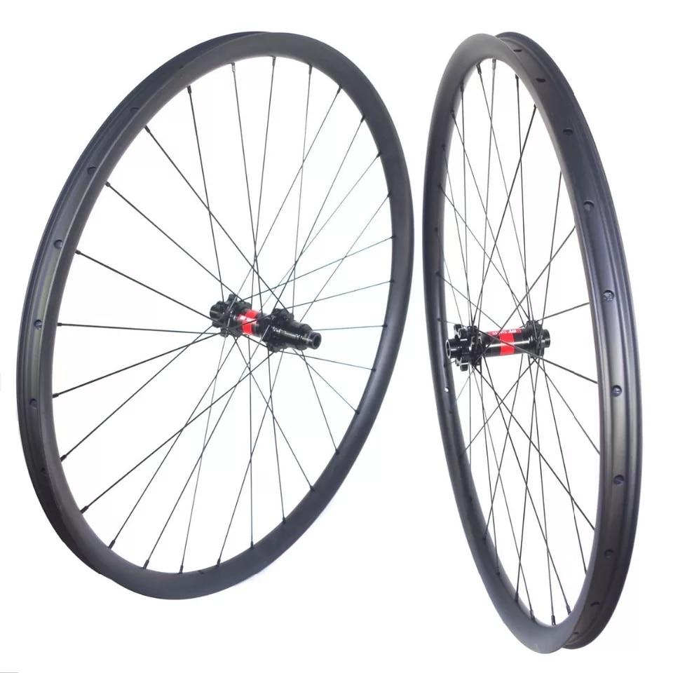 Carbonbeam Cheap Superlight 1070g 29er  Mtb Carbon Wheels Wide 24mm 27mm 30mm XC 29inch Bike Mountain 29er Carbon Mtb Wheelset