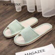 Sophitina/женские домашние тапочки; Модные удобные женские тапочки