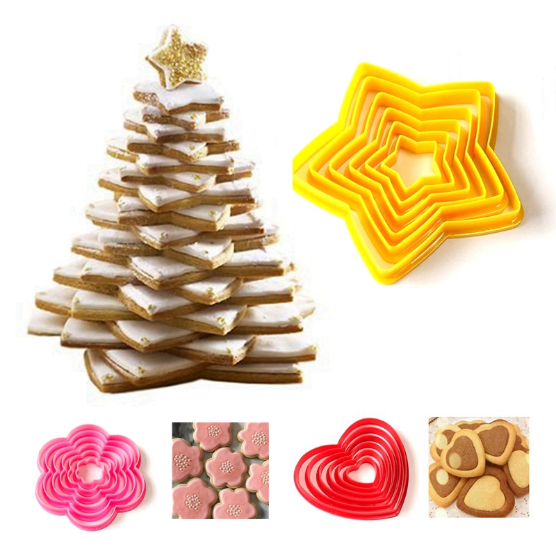 Multi Shape Cookie Pastry Biscuit Cutter Xmas Fondant Cake Decorating Mold Tools